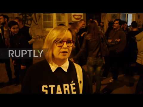 Slovakia: Partygoers protest restricted bar opening hours in Bratislava
