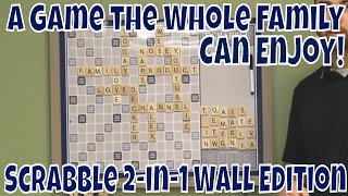 A Game the Whole Family Can Enjoy! Scrabble Deluxe 2-in-1 Wall Edition