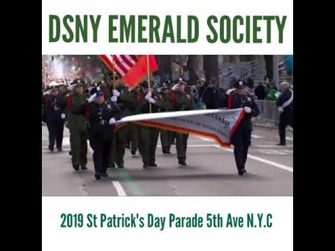 DSNY Emerald Society 2019  St Patrick's Day Parade NYC