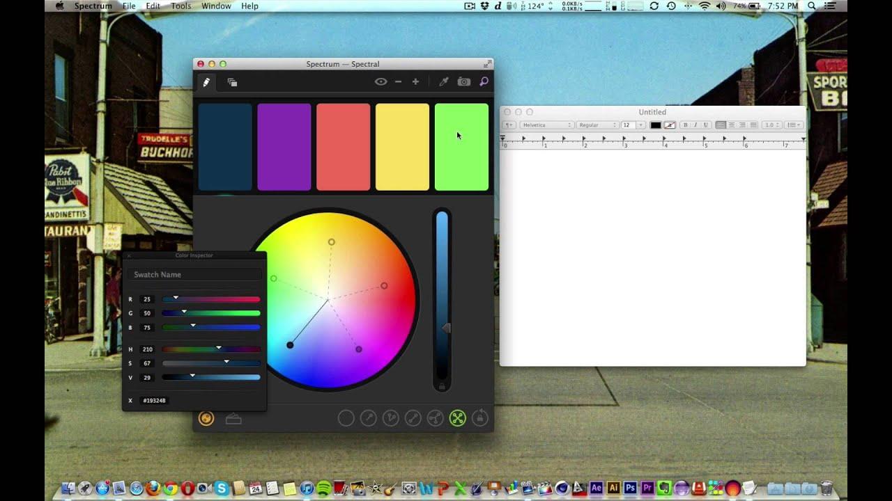 Spectrum (Color Scheme Creator) Review - YouTube