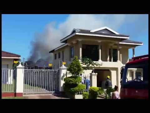 WATCH: Home on fire in Richards Bay