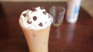 Iced Latte With Whipped Cream & Chocolate Chips : Lattes