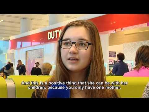 Video interviews at Chisinau international airport, Moldova