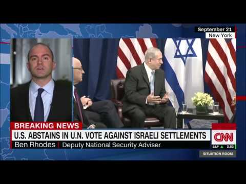 US Obama Admin abstained in UN Israeli Settlements vote, ensure two state solution,continued  peace