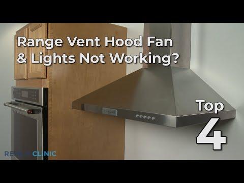 "Thumbnail for video ""Top 4 Reasons Range Vent Hood Fan & Lights Not Working? """