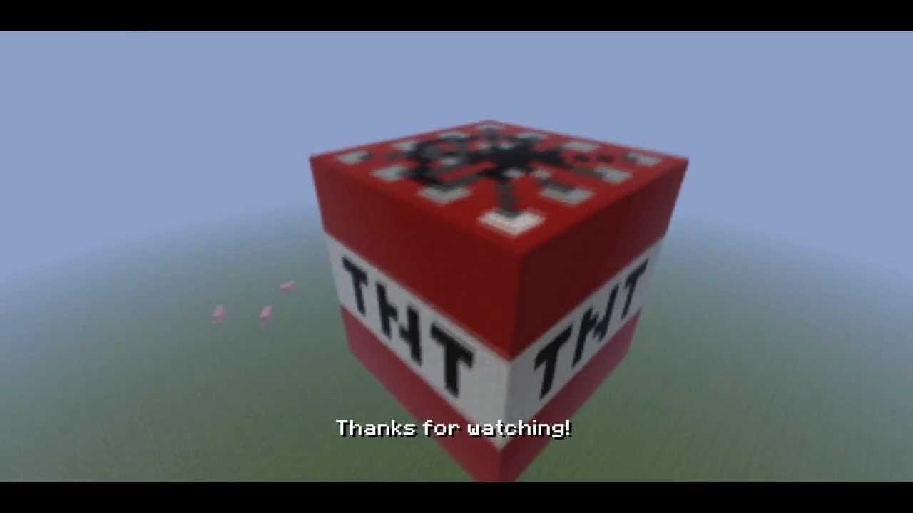 Minecraft - Giant TNT block with download - YouTube
