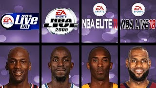 Highest Rated Basketball Players Ever In NBA Live Games (NBA Live 97 - NBA Live 18)