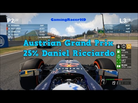 F1 2014 - Austrian Grand Prix - 25% Race - Red Bull (Daniel Ricciardo) 1080p HD