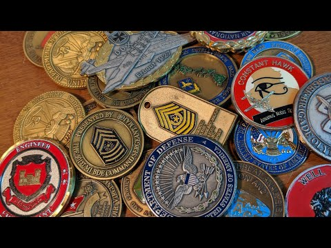 Thrift Store Finds Military Challenge Coins Large Lot Any Good Ones?