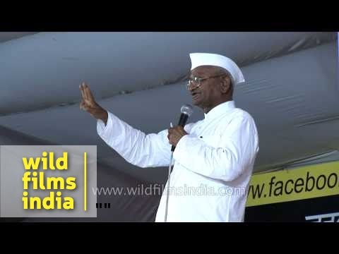 Anna Hazare speaks about corruption in India
