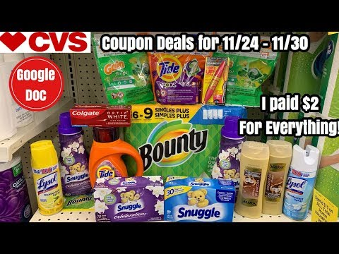 CVS Free, Cheap, & Money Maker Coupon Deals & Haul | 11/24 – 11/30 | $100 in products for $2! 🙌🏽
