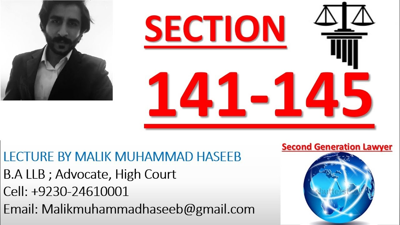 SECTION-145 Punishment of Unlawful Assembly (CHAPTER - XIII ) OF THE  PAKISTAN PENAL CODE 1860
