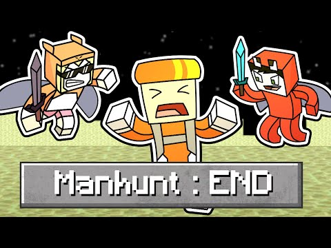 Minecraft manhunt but its in the END