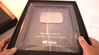 My Silver Play Button !!!!! Gadgets Quality Pro