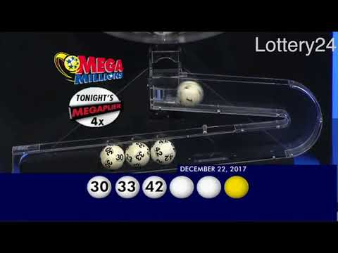 2017 12 22 Mega Millions Numbers and draw results