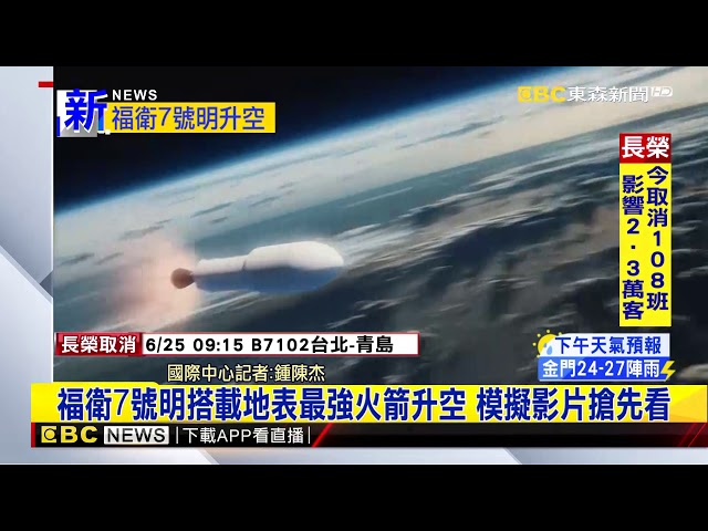 最新》福衛7號明搭載地表最強火箭升空 模擬影片搶先看