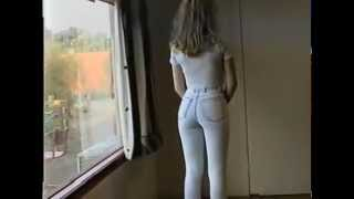 Hottest ever skin tight jeans