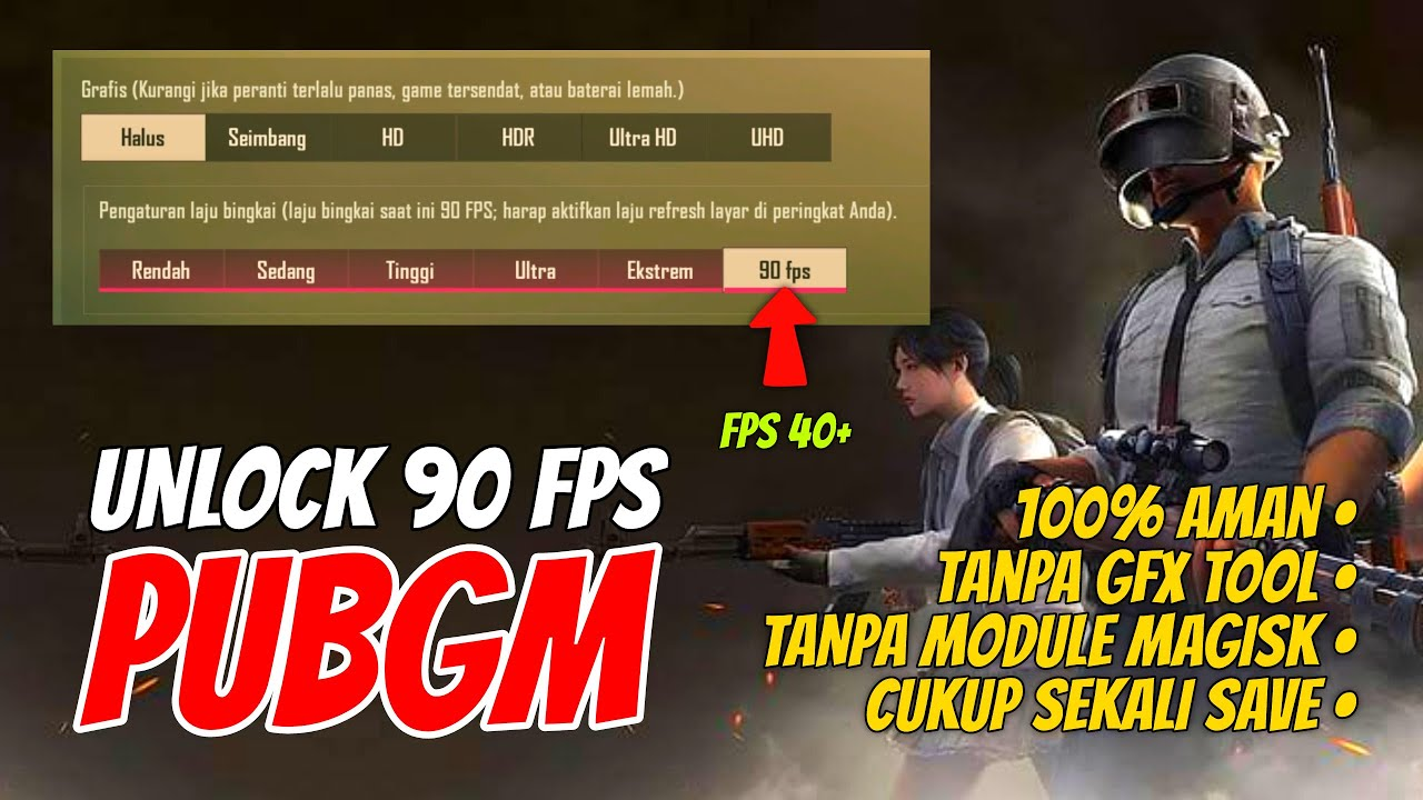 Cara Mudah Aktifkan 90 Fps Pubg Mobile Permanen Tanpa Module Magisk Gfx Tool Youtube