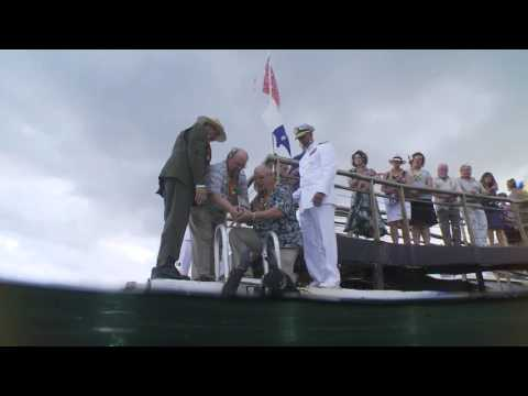 Interment of Joseph Langdell at the USS Arizona, Pearl Harbor