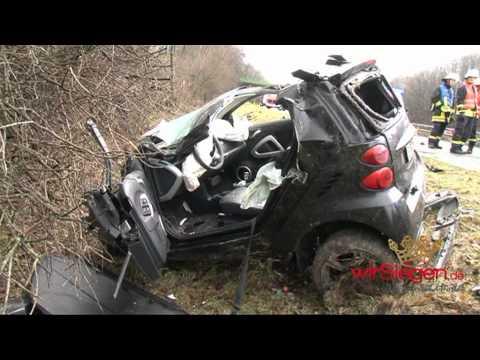 Wilnsdorf : Schwerer Autobahn Unfall mit Smart Brabus