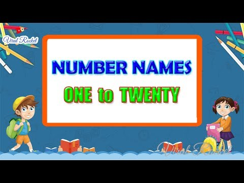 Learn NUMBER NAMES for Kids ||  Numbers with spellings 1 to 20 for Children | Number Words 1 - 20 !