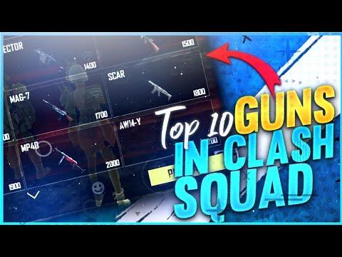 FreeFire Best Gun In Clash Squad l Top 10 Guns In Clash Squad  - 🔥 Garena FreeFire ❤️