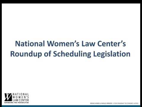 Webinar: State Policy Solutions to the Need for Fair Scheduling