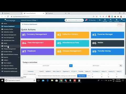 Passbook in Finance Management - Web