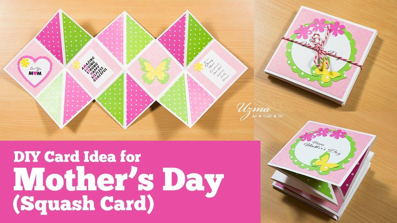 Folding Card Making Ideas Part - 41: DIY Greeting Card Idea | Squash Card Or Accordion Fold Card For Motheru0027s Day