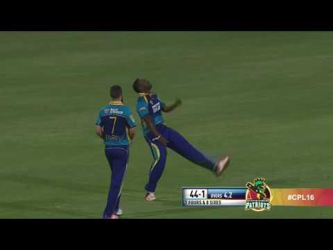 CPL 2016 Highlights - Barbados Tridents v St Kitts & Nevis Patriots