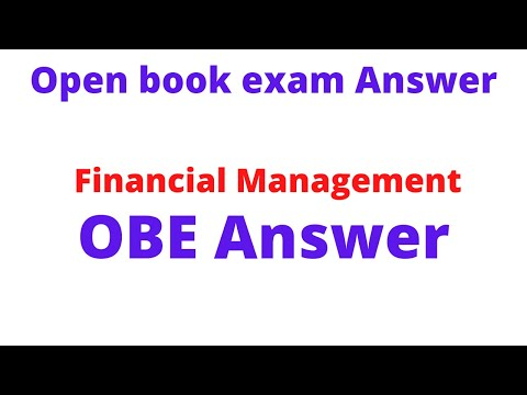 Financial Management OBE Answer Q no. 1 Answer || Financial Management OBE Answer