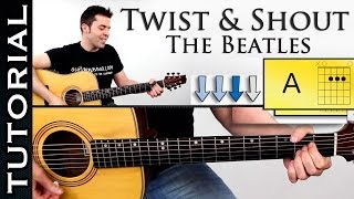 Como tocar TWIST AND SHOUT en guitarra acustica fácil tutorial con acordes