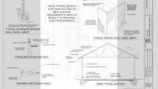 Gentleman Barn Plans 12' X 20' X 8' Blueprints