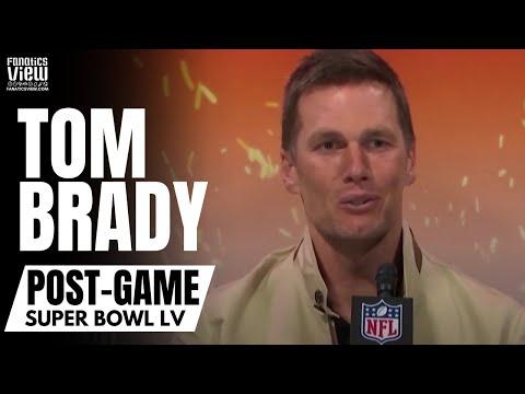 Tom Brady Reacts to Winning 7 Super Bowls, Antonio Brown & Rob Gronkowski Scoring TD's | Post-Game
