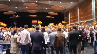 Ortega Smith llega al acto de Vox en Zaragoza
