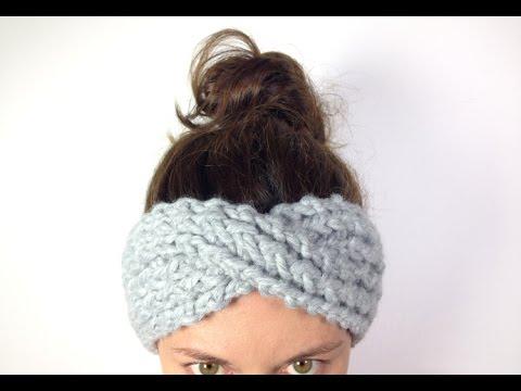 Cómo tejer una cinta turbante / diadema de lana en telar (Tutorial DIY)