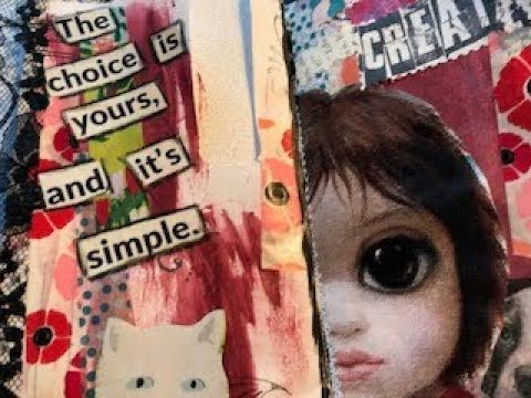 Big Eyes - Envelope Junk Journal