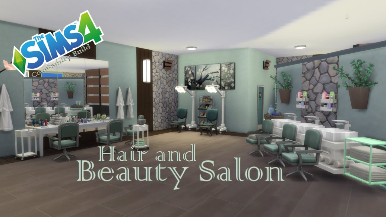 The sims 4 community build hair and beauty salon youtube for Salon moderne sims 4