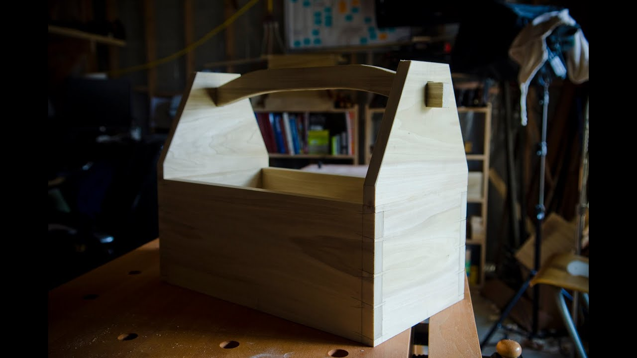 Make A Dovetail Tool Box With Hand Tools Youtube