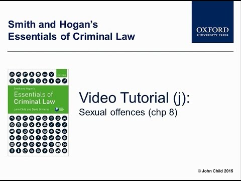 Sexual offences (chp 8) - Smith and Hogan's Essentials of Criminal law