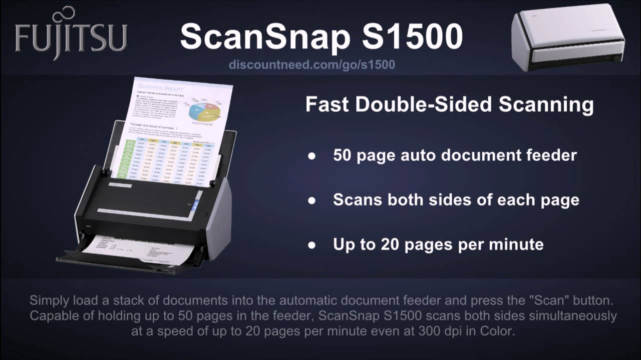 FUJITSU SCANSNAP S1500 SCANNER WINDOWS 7 64BIT DRIVER