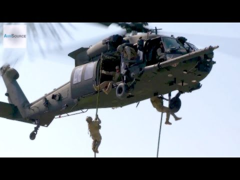 U.S. Special Forces & Polish Special Operations Forces. UH-60 Black Hawk Helicopter.