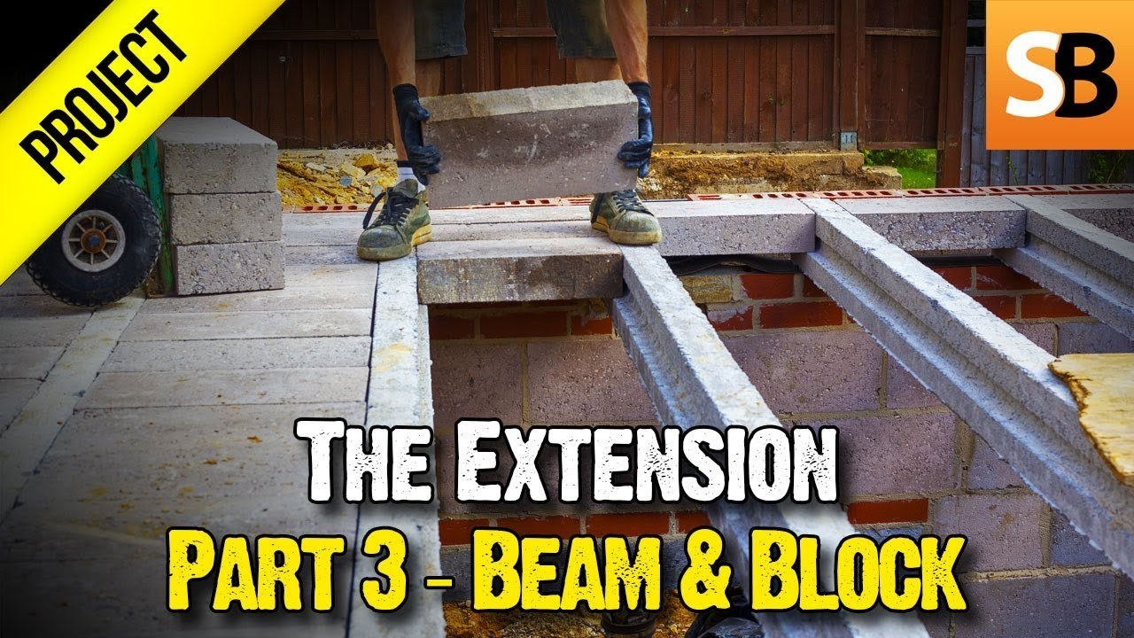 Building An Extension 3 Suspended Beam Amp Block Floor