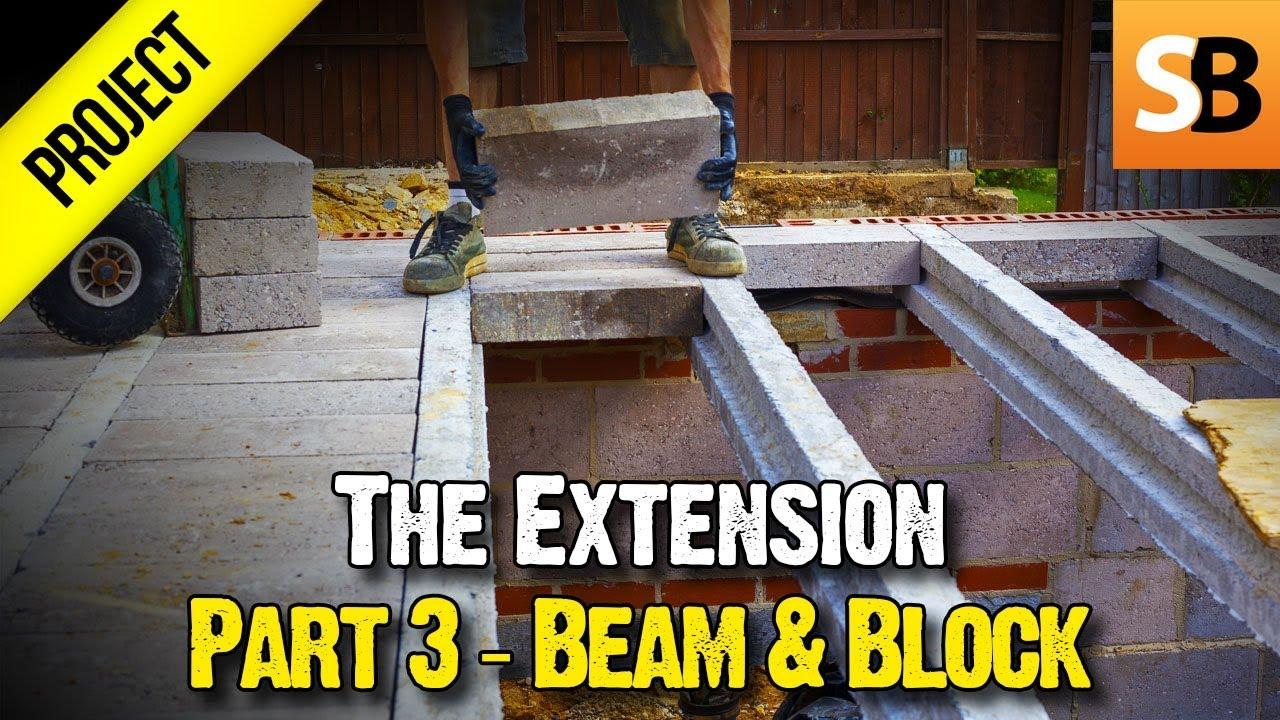 Building An Extension 3 Suspended Beam Block Floor