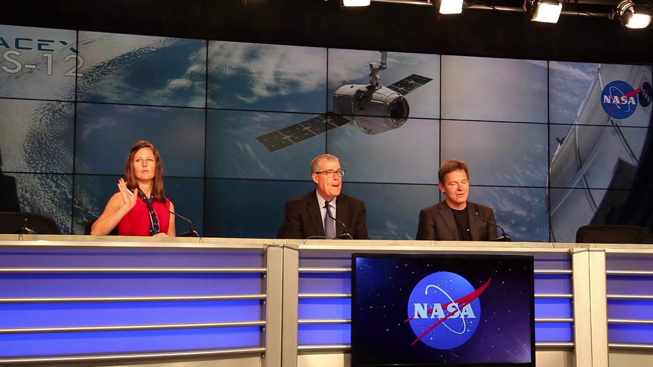 spacex crs 12 post launch news conference hd