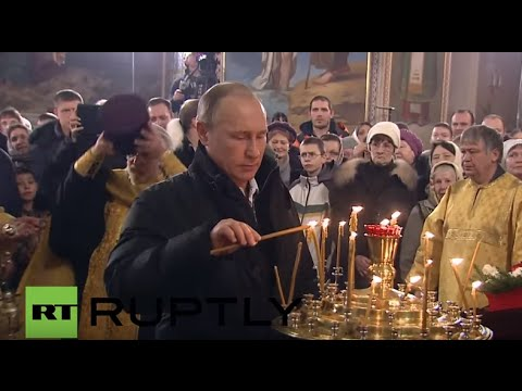 Russia: Putin attends Orthodox Christmas Mass in Tver Oblast