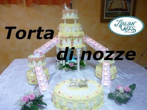 Torta nuziale (wedding cake) by ItalianCakes - YouTube