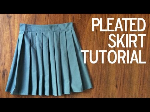 DIY How To A Sew A Pleated Skirt YouTube Beauteous Pleated Skirt Pattern