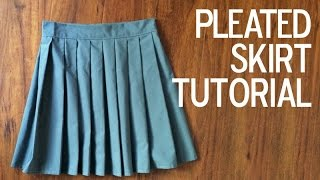 DIY: How To a Sew a Pleated Skirt!