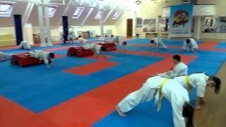 Тренировка выносливости в СК Самурай - каратэ для детей в Анапе